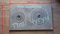 Плита чугунная двухкомфорочная (450х750 мм), фото 1