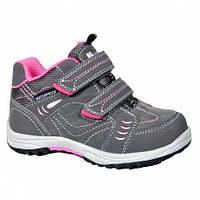 Ботинки детские Bugga Чехия для девочки серо-розовые р.30,32