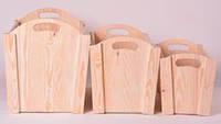 Ящики декоративные для дома в комплекте (3 шт)