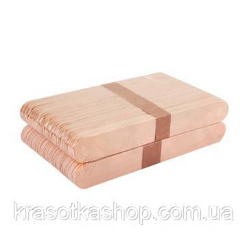 Шпатель дерев'яний для воску, 100 шт/уп, 15*1,7 см