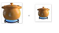 Набор кастрюль керамических Sacher 0066 1.6л +0068 3,3л