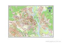 Карта План м. Киева до каждого дома М1:21000 /картон, ламинация, планки/