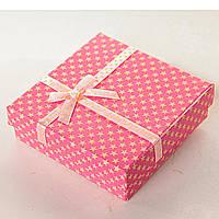 Подарочная коробочка для украшений Звездочка Розовая средняя 12 шт. [9/9/3 см]