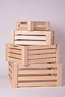 Комплект деревянных ящиков (4 шт)
