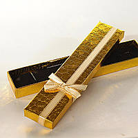 [21/4,5/2 см] Подарочная коробочка для цепочки, браслета Змея длинная  12 шт.