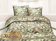 """Семейный комплект постельного белья """"Доллар""""."""
