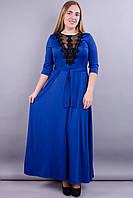 Регина. Нарядное платье больших размеров. Электрик., фото 1
