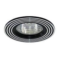 Встраиваемый светильник Feron CD2300 серебро/черный
