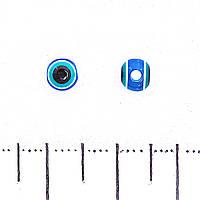 Фурнитура подвеска бусина Хамса, цветное стекло d-5mm