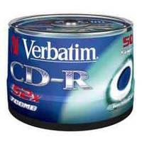 Диск CD-R Verbatim, 700Mb, 52х, 80min, Cake(50), Extra