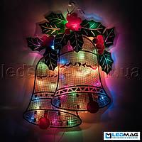 Светящаяся новогодняя фигура-планшет Колокольчики