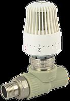 Кран радиаторный с термоголовкой прямой FADO 20x1/2 Арт.(PKT01)