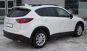 """Рейлинги Mazda CX5 Crown (тип skyport), сплошный алюминий, цвет """"Черный"""""""