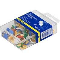 Кнопки цветные Buromax, пластиковые покрытие, 100 шт., пласт.контейнер (BM.5176)