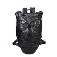 Изысканный  чёрный рюкзак в виде совы. Оригинальное оформление. Отличное качество. Супер цена.  Код: КГ48