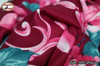 Шерстяной шарф Красные цветы, фото 3