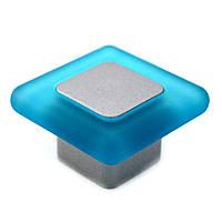 Ручка для мебели Poliplast 0024Q голубая Италия