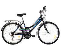 Городской велосипед Mustang Sport 26 (голубой, черный)