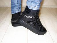 С505 - Ботинки женские зимние черные