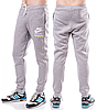 ТЕПЛЫЕ спортивные штаны мужские на флисе Найк (Nike) светло серые на резинке внизу (манжет) Украина