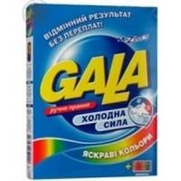 Порошок стиральный ручная стирка Gala 400г Яркие цвета