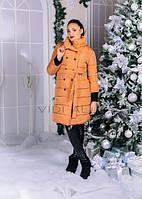 Стильная, удлененная женская курточка на пояске