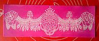 Силиконовый коврик для айсинга    Роза с подвесками