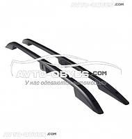 Рейлинги продольные на крышу Opel Vivaro, Crown чёрные, турецкие, кор (L1) / длин (L2) базы
