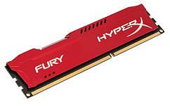 Память Kingston HyperX FURY DDR3 1866 8GB, Red