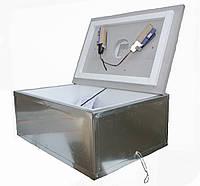 Инкубатор бытовой оцинкованный «Наседка ИБМ-100» с механическим переворотом яиц и цифровым терморегулятором.