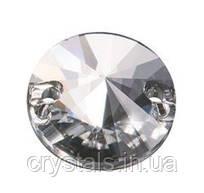 Пришивные риволи хрустальные Preciosa (Чехия) 14 мм Crystal