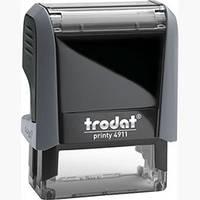 Самонаборный текстовый штамп Trodat (4911N/3/U) 3-х строчный+касса 6003