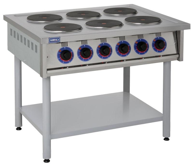 Электрическая профессиональная плита ПЕ-6КР