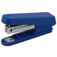Степлер пластиковый (плоский) Buromax 10 листов скобы №10 синий (BM.4101-02)