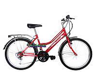 Городской велосипед Mustang Sport 24 (красный, розовый)