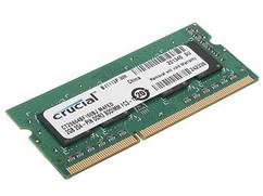 Память для ноутбука Micron Crucial DDR3 1600 2GB 1.35V/1.5V CL11 Single Rank