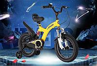 """Велосипед 2-х колесный детский FLYING BEAR, колеса 16""""  желтый"""