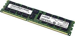 Память Micron Crucial DDR3 16GB ECC REG CL11,Dual Rank, 1.35V