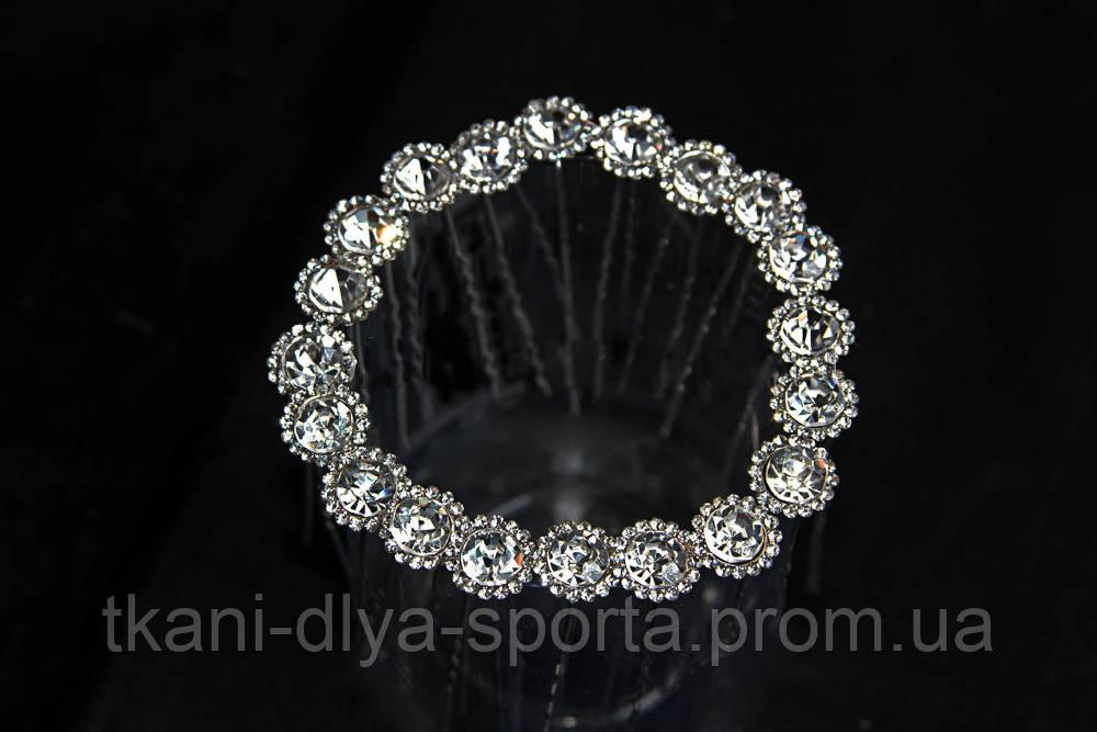 Шпильки для волос с цветком из камней