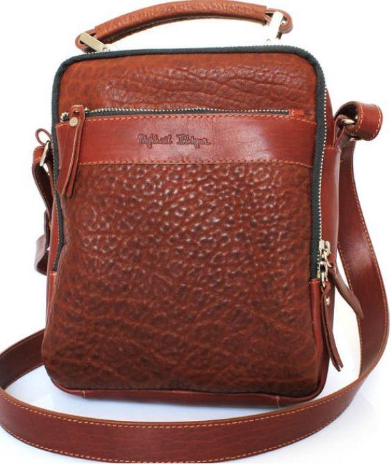 d411bf189099 Кожаная коричневая сумка Crossbody Mykhail Ikhtyar 6732 - SUPERSUMKA  интернет магазин в Киеве