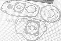 Прокладки двигателя к-кт 11шт (электрокартон, медь) МТ