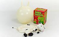 Мяч попрыгун с рожками Корова BA-3009 (резина, d-45см, 400г, PL чехол)
