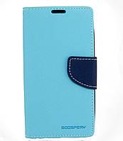 Чехол книжка для Lenovo A536 боковой с отсеком для визиток, Mercury GOOSPERY Голубой