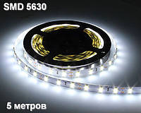 5 метров — светодиодная лента 5630, холодный белый, 60 д/м, IP22