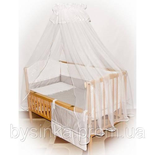 Детское постельное белье в кроватку с конвертом на выписку-Горохи