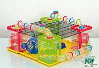 Клетка Fop 20160070 Hamster Land пластиковая укомплектованная 60 см/60 см/22 см