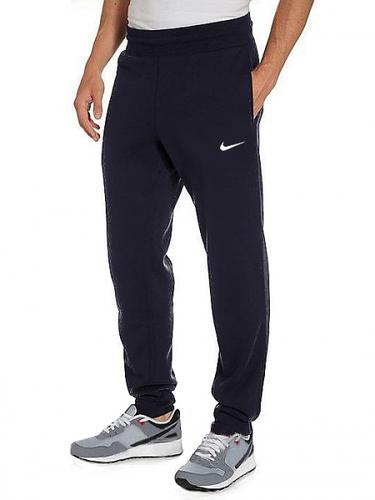 ТЕПЛЫЕ зимние спортивные брюки мужские на флисе Найк (Nike) темно синие на резинке внизу(манжет)Украина