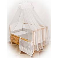 Детское постельное белье в кроватку с конвертом-одеялом и карманом-Горохи