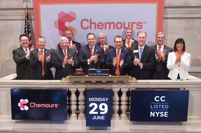 Процесс отделения от DuPont завершен - Chemours Company (Worthington industries)