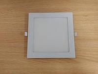 Светильник врезной LED  Downlight  18W  6400K  размер 225*225 мм  квадратный  алюминиевый корпус